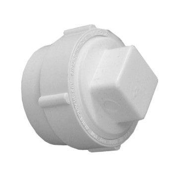 """8"""" x 8"""" DWV PVC Fitting Cleanout w/ Raised Plug D9508"""