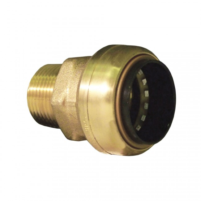 Quot lead free brass push fit reducing male adapter