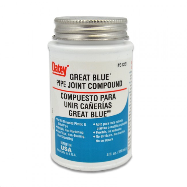 Oatey Great Blue Pipe Joint Compound 1 4 Pint
