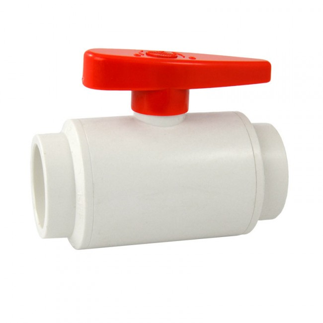 Buy quot pvc compact ball valve socket white deluxe