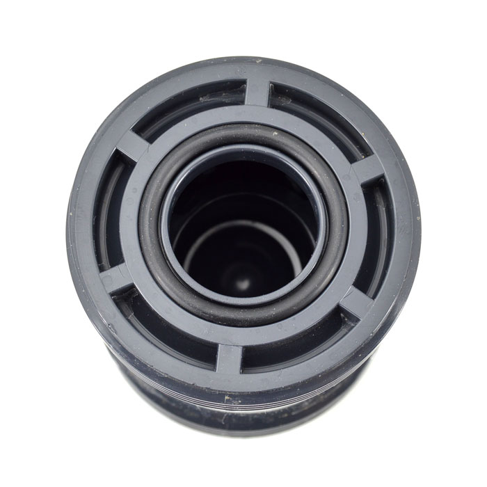 Dark Gray PVC True Union Ball Check Valve with EPDM O-Ring